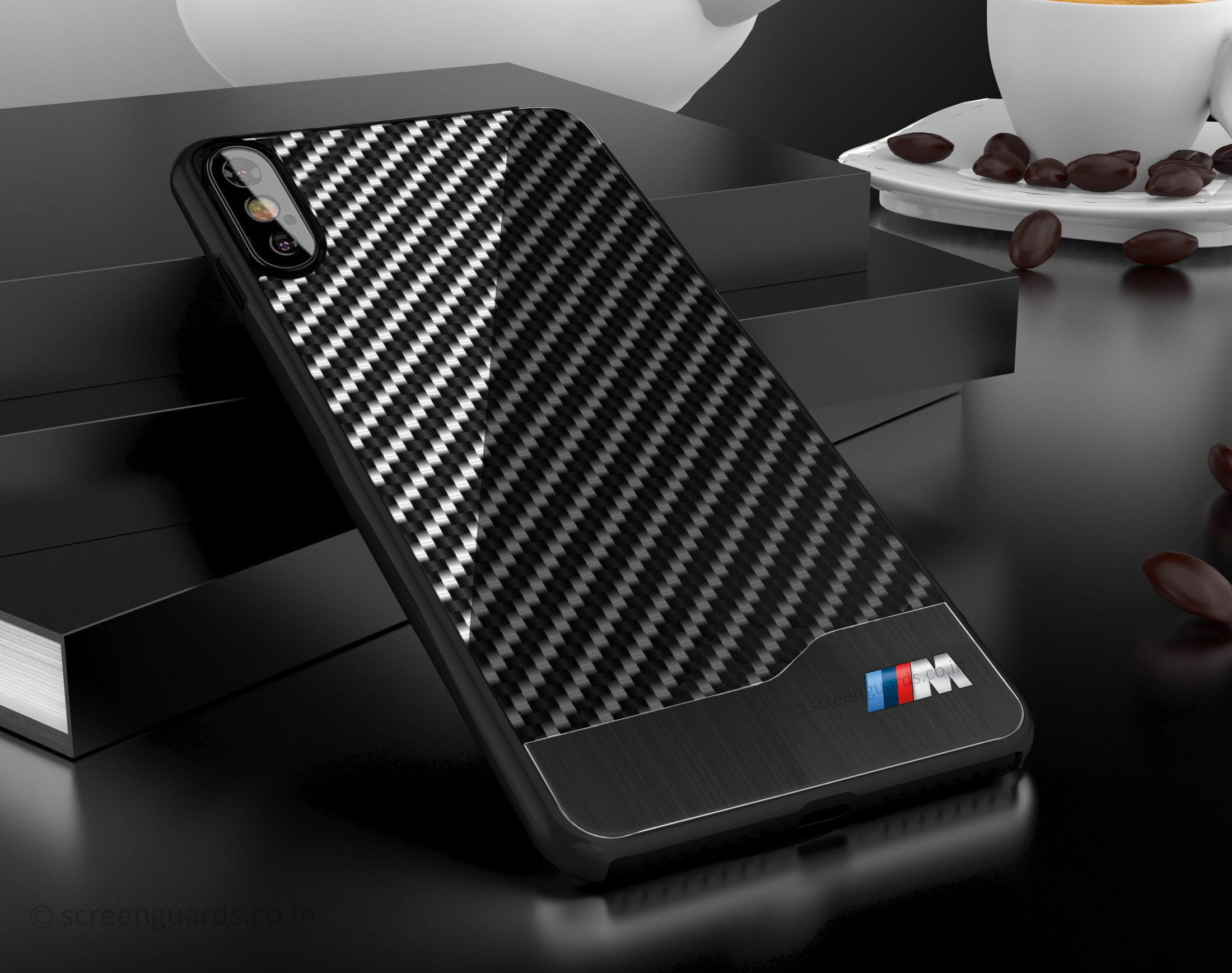 Carbon Fiber Iphone Case >> Bmw Apple Iphone X Xs M Series Carbon Fiber Aluminium Hard Case Back Cover