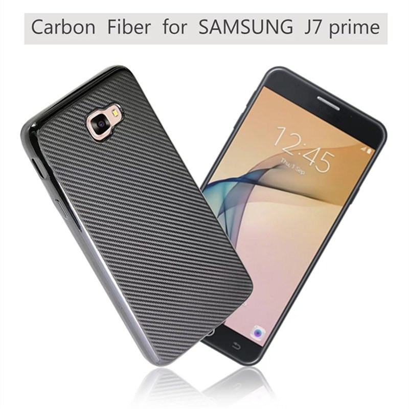 new styles ccf57 56a1f VAKU ® Samsung Galaxy J7 Prime Synthetic Carbon Fiber with PU Back Shell  Back Cover