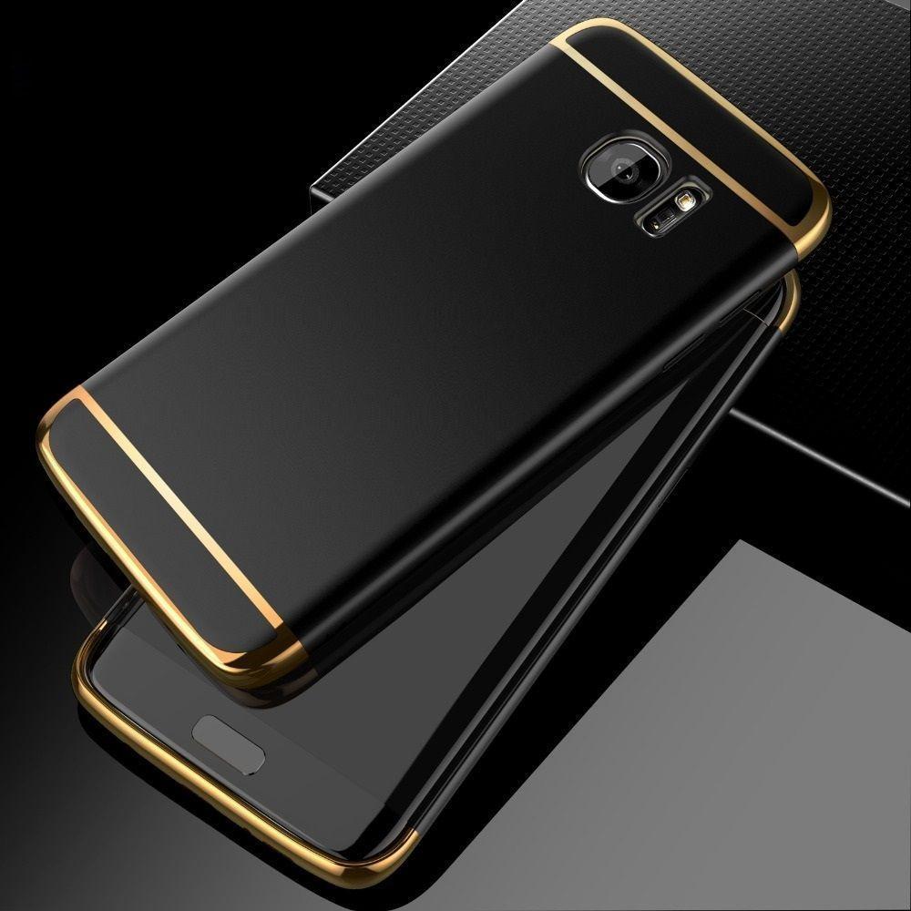 sale retailer 588fb a4ab5 Vaku ® Samsung Galaxy S6 Edge Plus Ling Series Ultra-thin Metal  Electroplating Splicing PC Back Cover