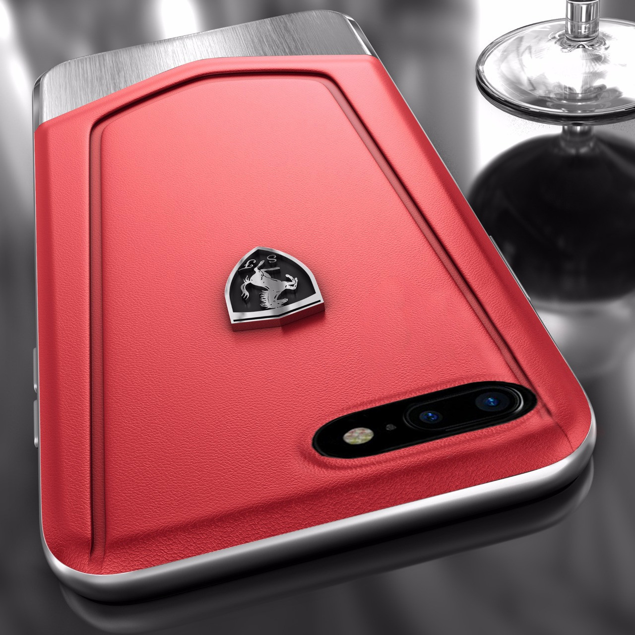Ferrari Apple Iphone 7 Plus Moranello Series Luxurious Leather