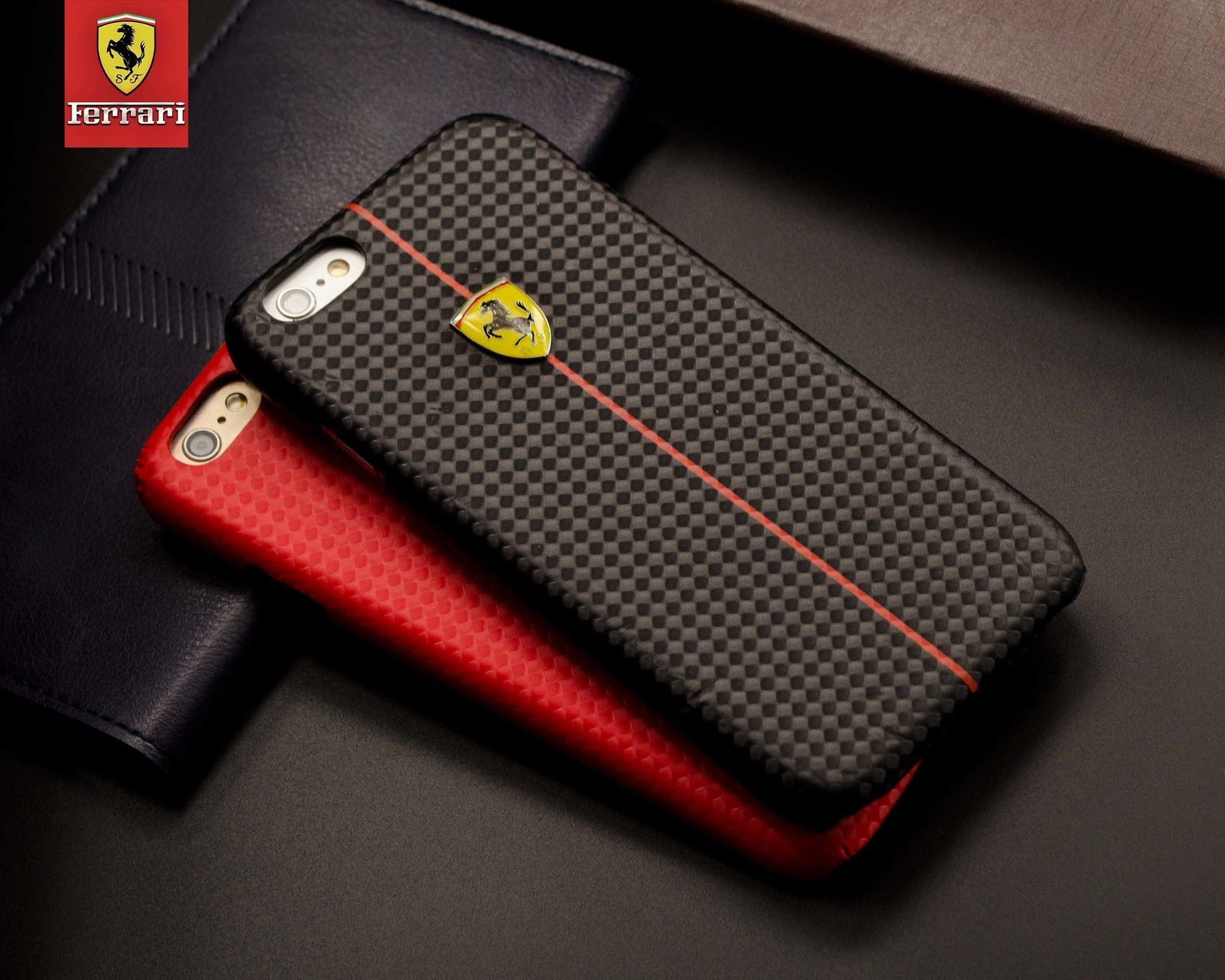 ferrari apple iphone 6 6s formula one carbon fiber 3d layer case back cover screen guards. Black Bedroom Furniture Sets. Home Design Ideas