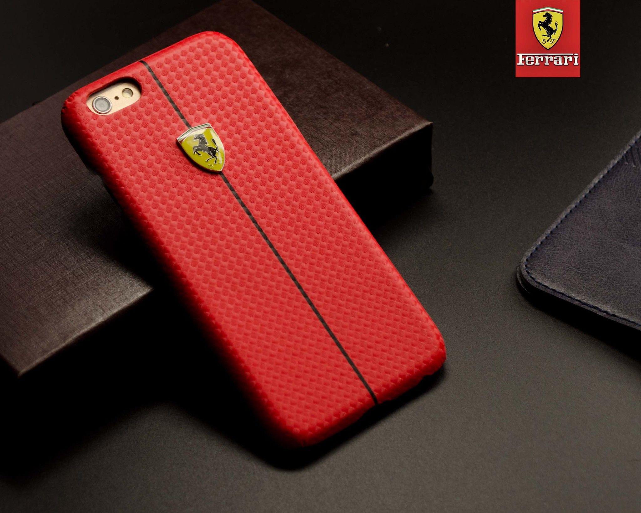 finest selection 6d93c 7968a Ferrari ® Apple iPhone 6 / 6S Formula One Carbon Fiber 3D Layer Case Back  Cover