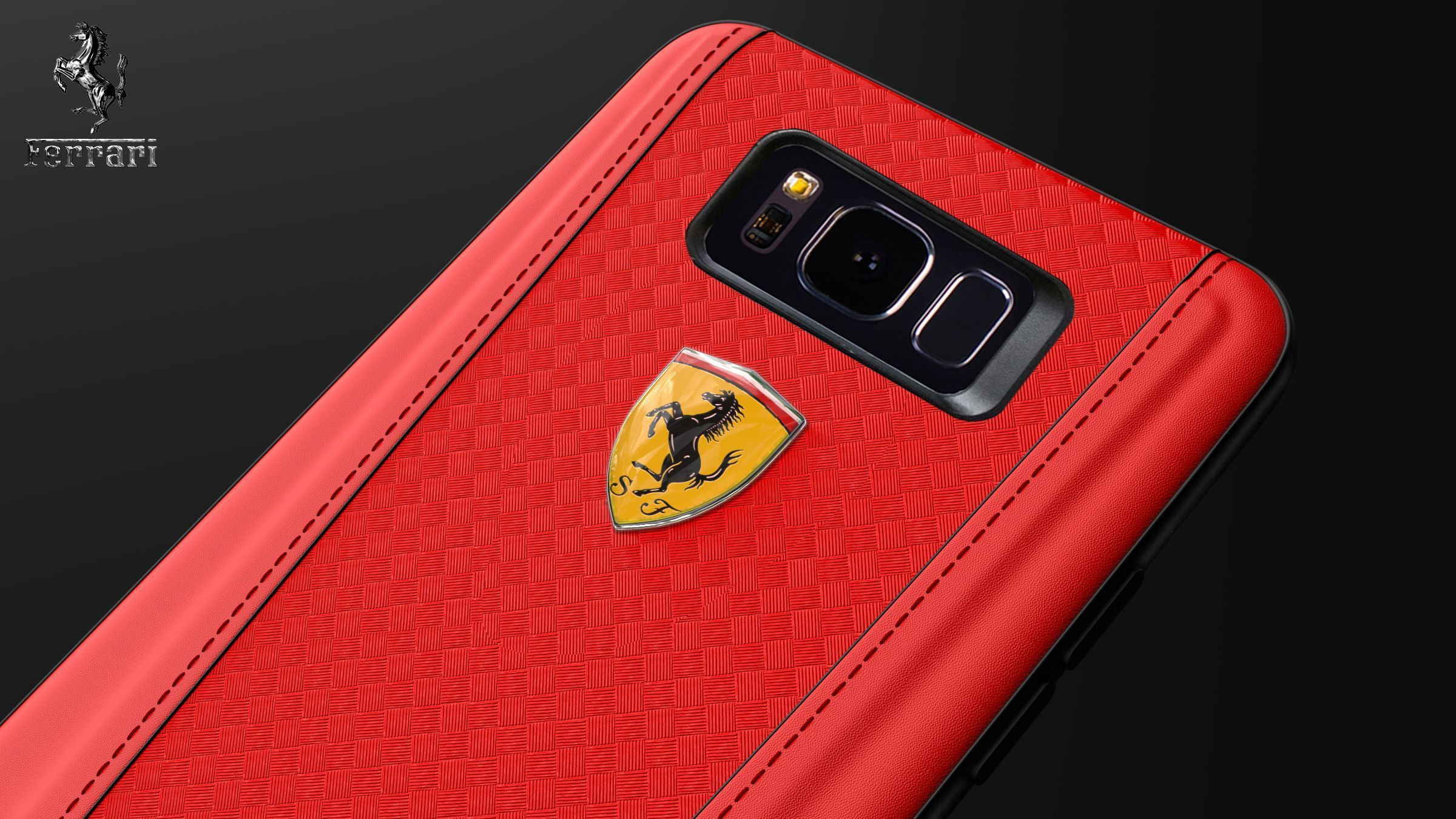 Ferrari 174 Samsung S8 Official 599 Gtb Logo Double Stitched