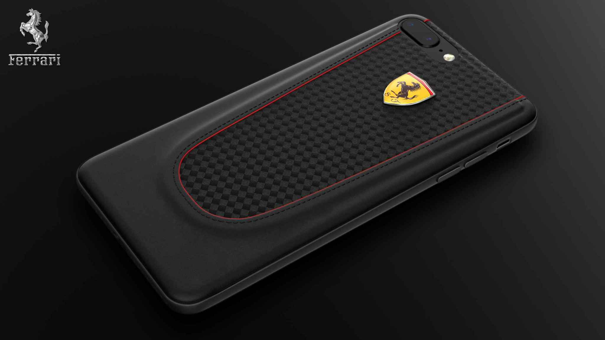 best loved e99e0 c7519 Ferrari ® Apple iPhone 7 Plus Official California T Series Double Stitched  Dual-Material PU Leather Back Cover