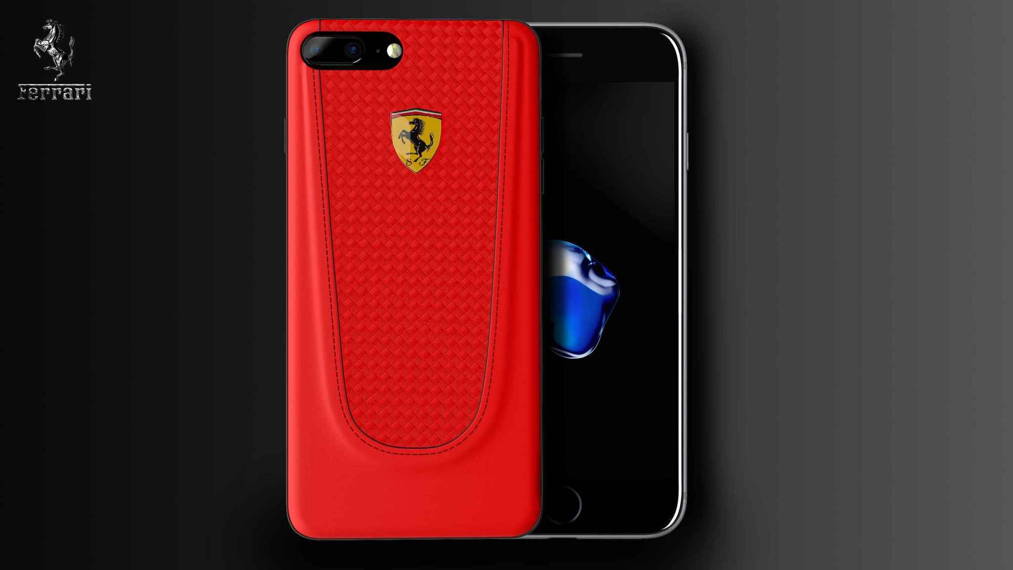 best loved 30b47 784ce Ferrari ® Apple iPhone 7 Plus Official California T Series Double Stitched  Dual-Material PU Leather Back Cover