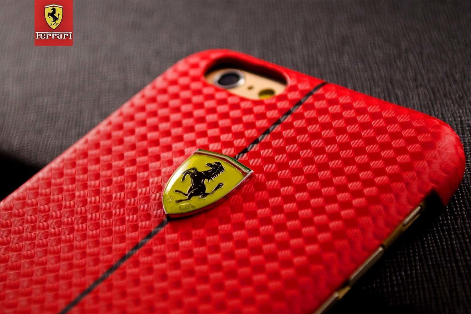 quality design 49588 efe4b Ferrari ® Apple iPhone 6 / 6S Official Hand Stitched Premium Leather Case  Back Cover