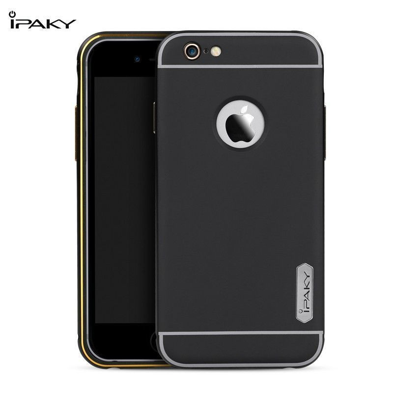 online store 053da 9e6f6 i-Paky ® Apple iPhone 6 / 6S Metal Electroplated Logo Display PC Shell +  Bumper Protector Back Cover