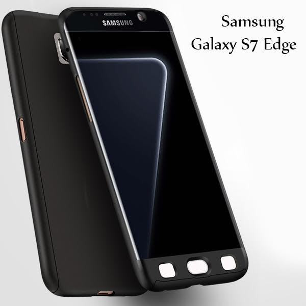 wholesale dealer 79dd4 1758a i-Paky ® Samsung Galaxy S7 Edge 360 Full Protection Metallic Finish 2-in-1  Ultra-thin Slim Front Case + Back Cover