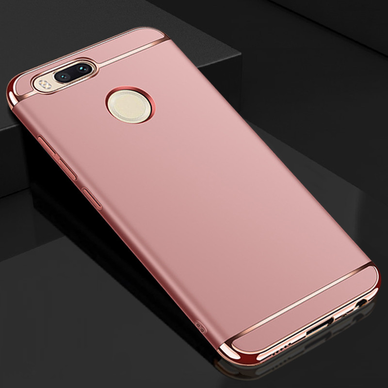 reputable site 18ef1 c2f7d Vaku ® Xiaomi Mi A1 Ling Series Ultra-thin Metal Electroplating Splicing PC  Back Cover