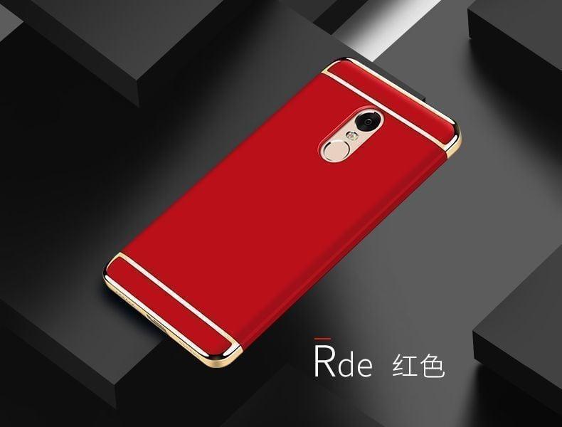 meet c2136 78cd2 Vaku ® Redmi Note 4 Ling Series Ultra-thin Metal Electroplating Splicing PC  Back Cover