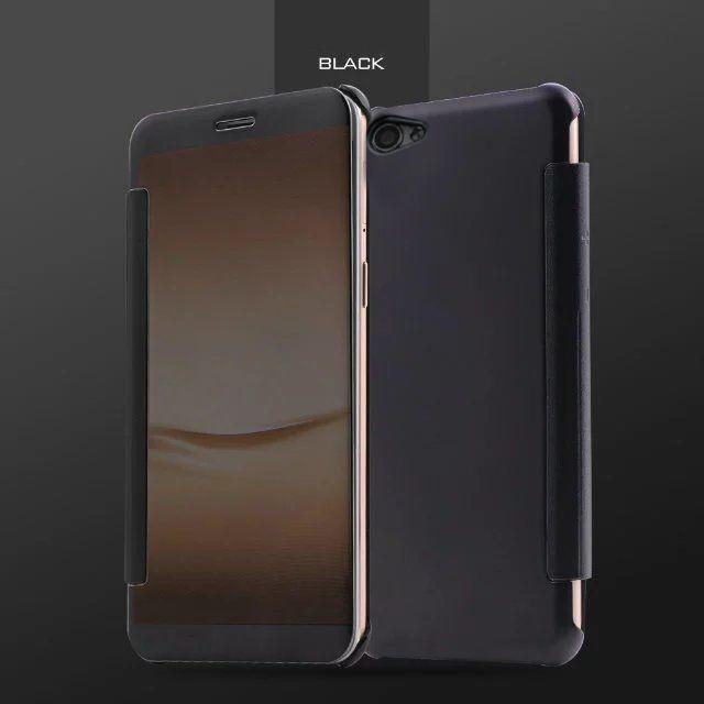 new style 2f828 7ed2b Vaku ® OPPO F1S Mate Smart Awakening Mirror Folio Metal Electroplated PC  Flip Cover