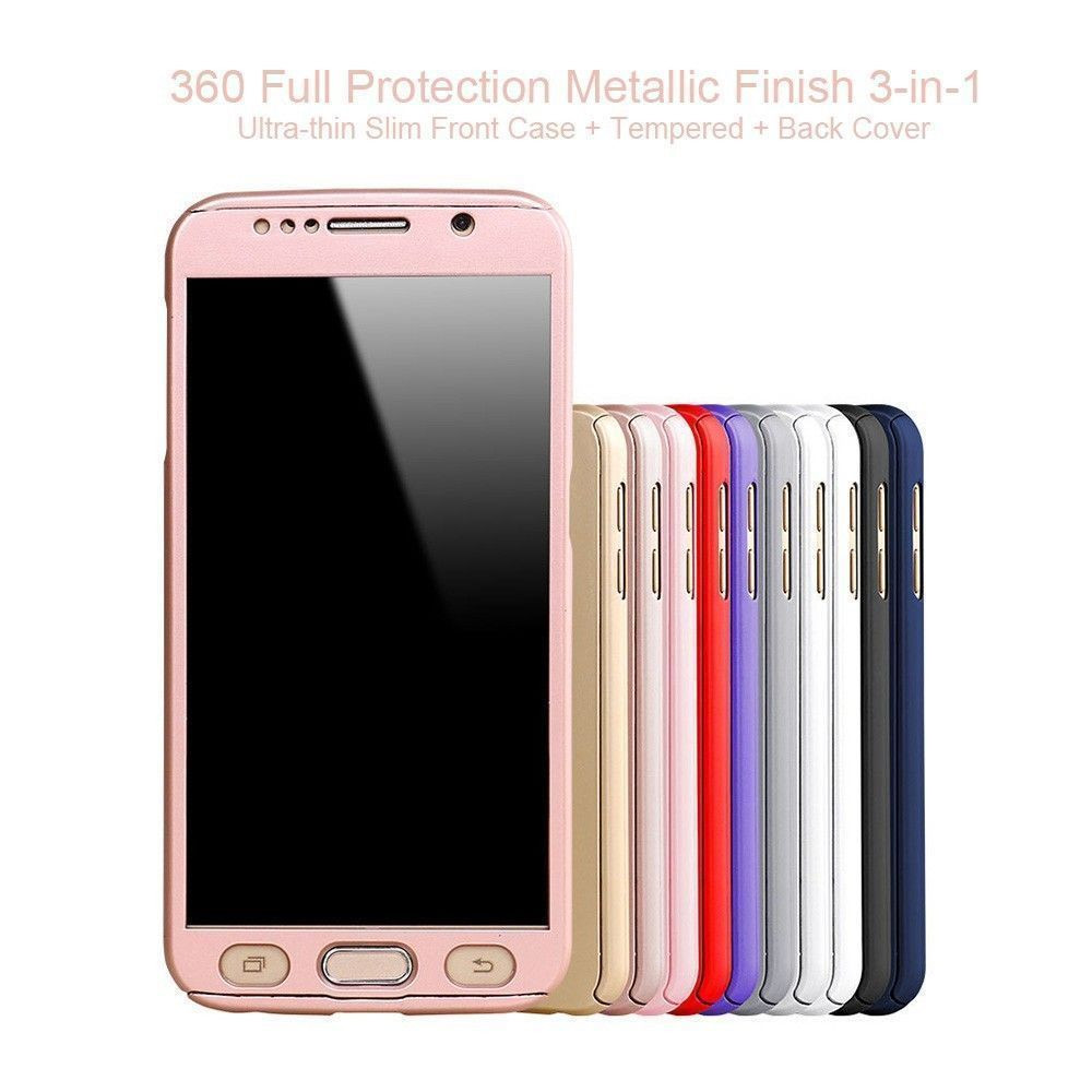 official photos 03950 b9e9c Ooxoo ® Samsung Galaxy J5 360 Full Protection Metallic Finish 3-in-1  Ultra-thin Slim Front Case + Tempered + Back Cover