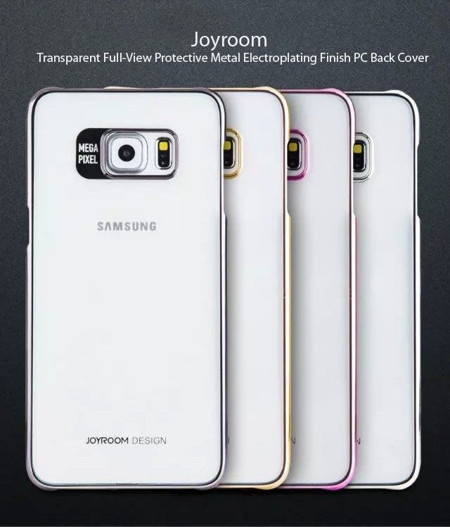 100% authentic 50f2a bba70 Joyroom ® Samsung Galaxy S7 Edge Transparent Full-View Protective Metal  Electroplating Finish PC Back Cover