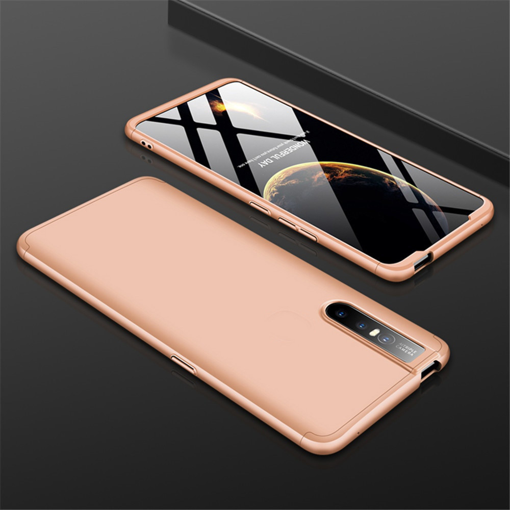 GKK ® Vivo V15 Pro 3-in-1 360 Series PC Case Dual-Color Finish Ultra-thin  Slim Front Case + Back Cover