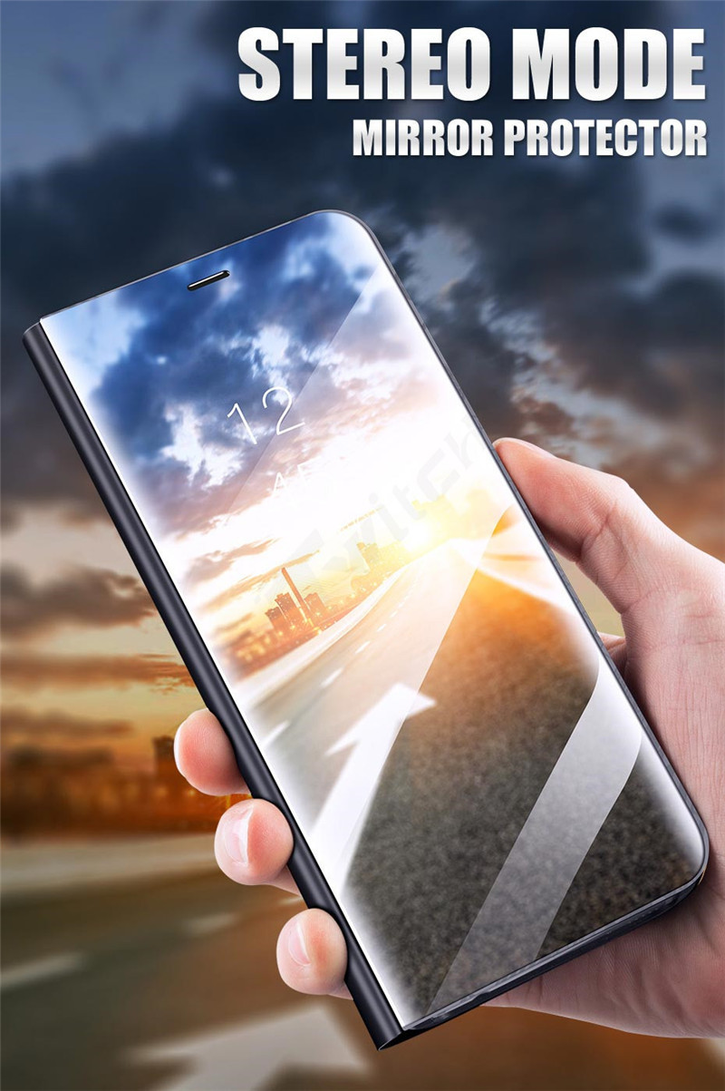 online store 9b76d f6dfc Vaku ® Oppo Find X Mate Smart Awakening Mirror Folio Metal Electroplated PC  Flip Cover