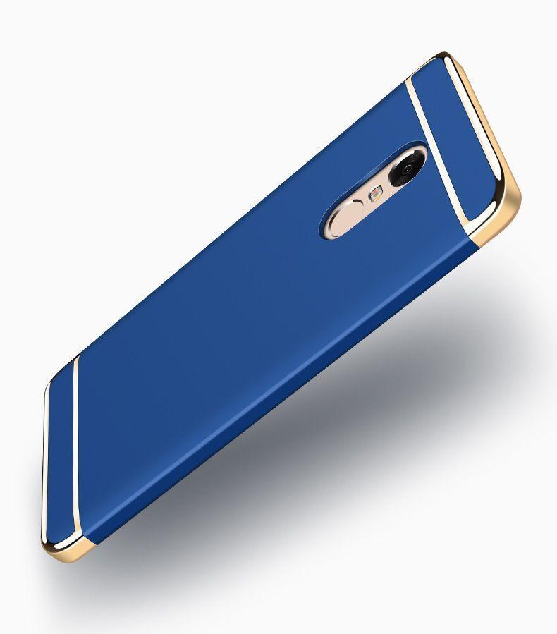 Vaku ® Redmi Note 4 Ling Series Ultra-thin Metal Electroplating Splicing PC  Back Cover
