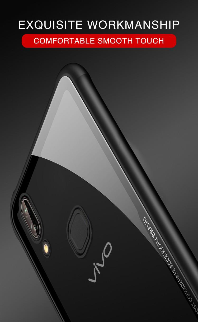 Vaku Vivo V9 Glassino Luxurious Edition Ultra Shine Silicone Frame Speaker Bluetooth Ori Thin Case Transparent Back Cover