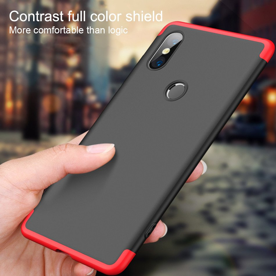 new arrival 6c3a0 4f7aa GKK ® Xiaomi Redmi Y2 3-in-1 360 Series PC Case Dual-Colour Finish  Ultra-thin Slim Front Case + Back Cover