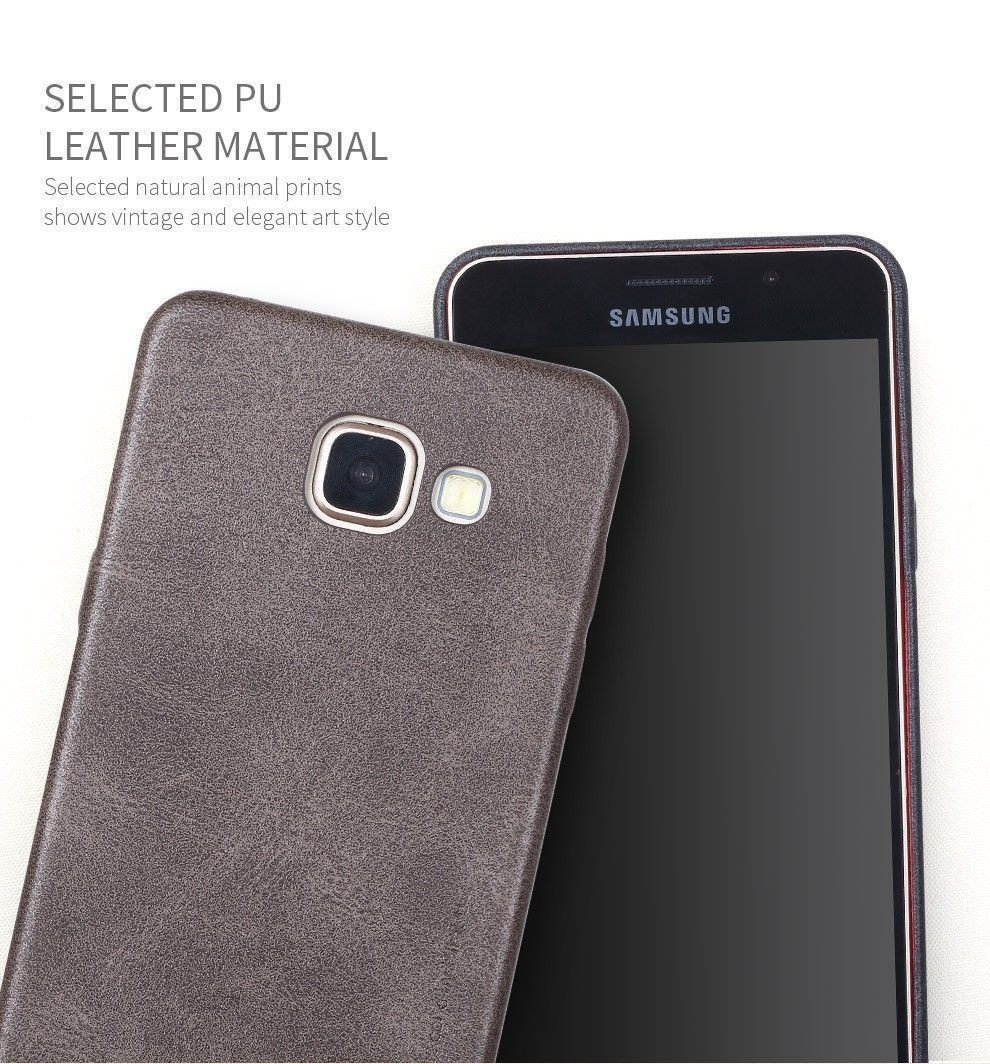 timeless design 869f8 03925 Usams ® Samsung Galaxy A7 (2016) Ultra-thin Elegant Grained Leather Case  Back Cover