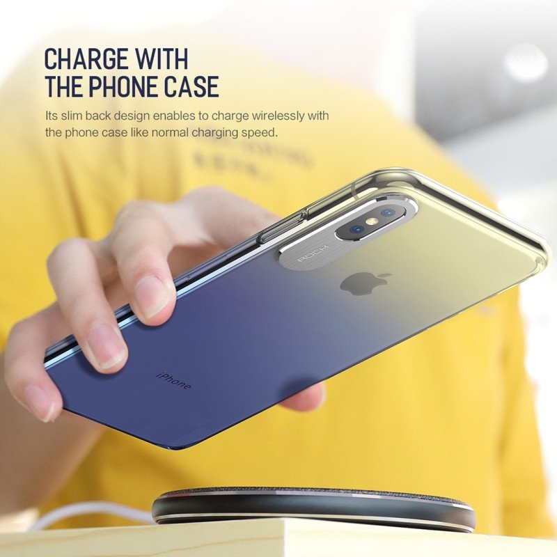 Rock ® Apple iPhone X / XS Classy UV Series Dual-color shine with Anodized  Aluminum Camera Finish Transparent Back Cover