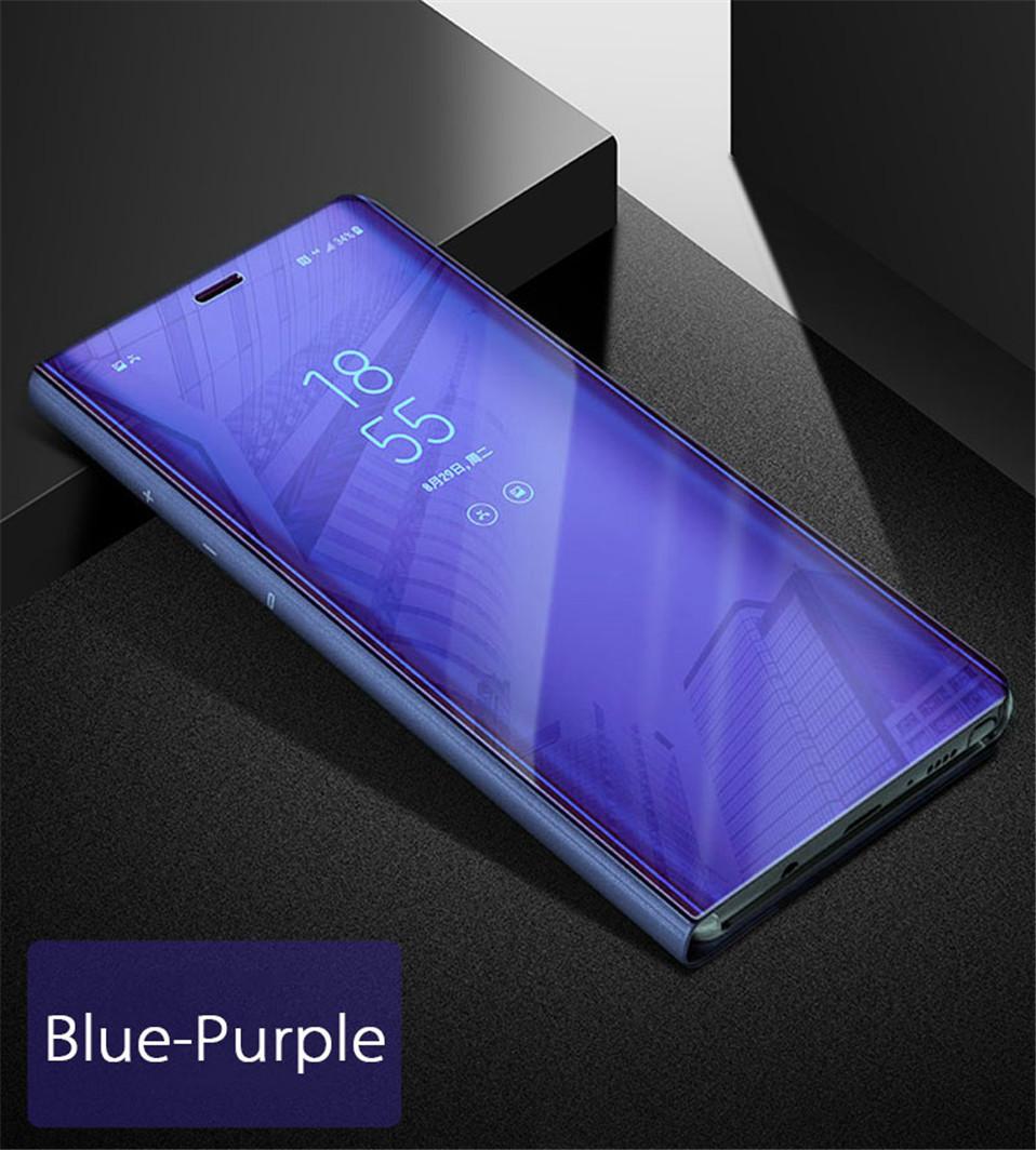 on sale a83d6 7f37a Vaku ® Samsung Galaxy A6 Plus Mate Smart Awakening Mirror Folio Metal  Electroplated PC Flip Cover