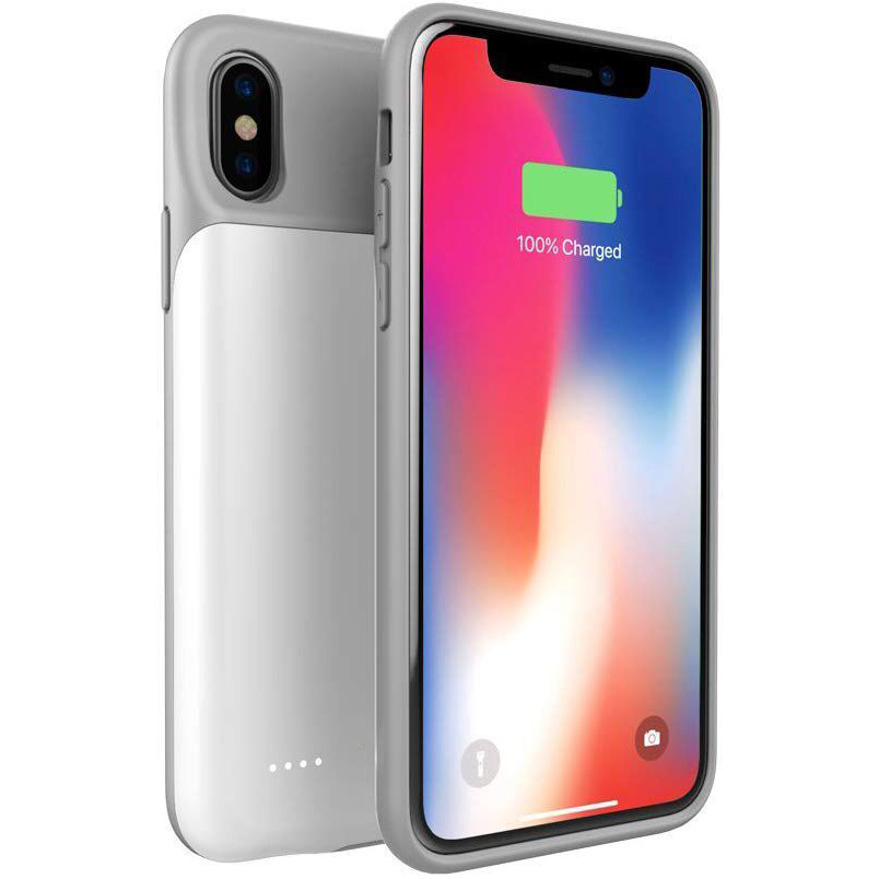 buy online 96789 c9c8c USAMS ® IPhone XS Battery Case Top TPU Body With LED indicator High Power  3,200 Mah Wire-Less Battery Case