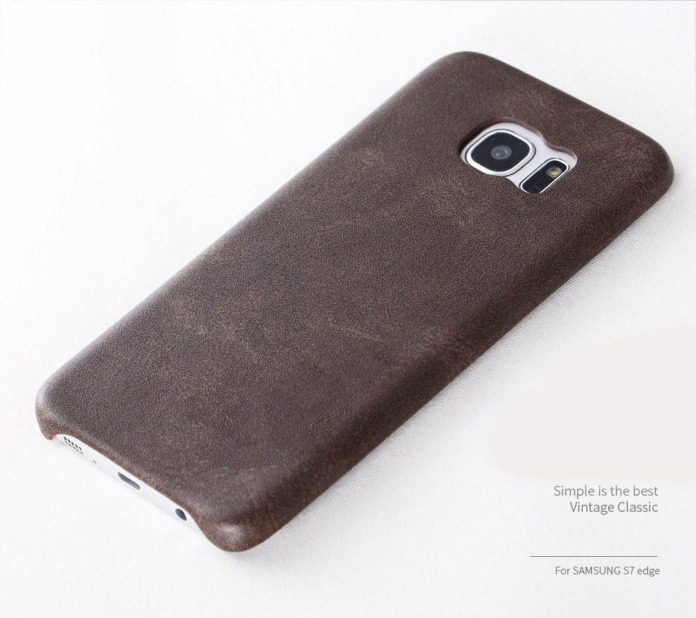 quality design d3f90 793ff Usams ® Samsung Galaxy S7 Edge Ultra-thin Elegant Grained Leather Case Back  Cover