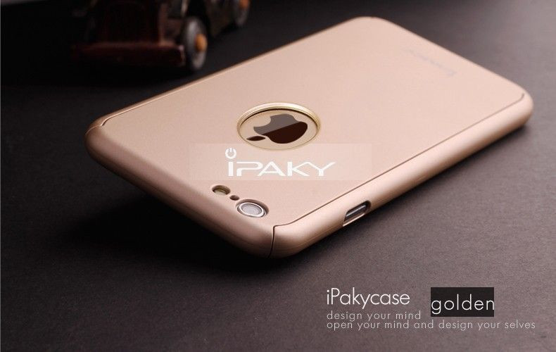 2be2c931288 i-Paky ® Apple iPhone 6 Plus   6S Plus 360 Full Protection Metallic Finish  3-in-1 Ultra-thin Slim Front Case + Tempered + Back Cover - iPhone 6 Plus    6S ...