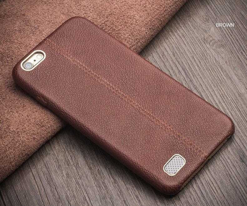 pretty nice 63cf3 a3820 Vaku ® Oppo NEO 7 Lexza Series Double Stitch Leather Shell with Metallic  Logo Display Back Cover