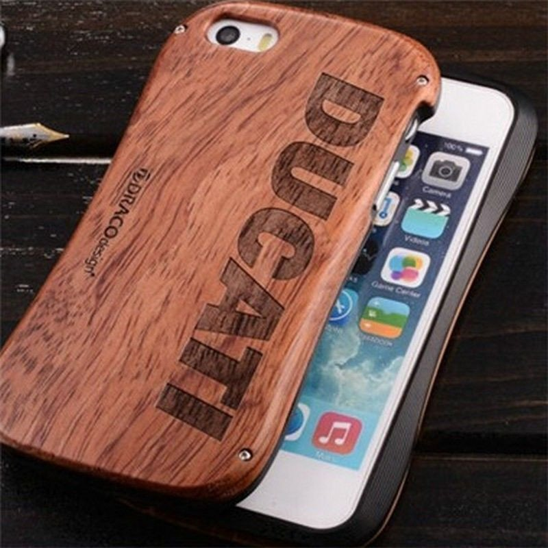 best sneakers 14320 49822 Ducati ® Apple iPhone 5 / 5S / SE Official Aluminium Metal Frame Laser  Engraved Wood Case Back Cover Wood