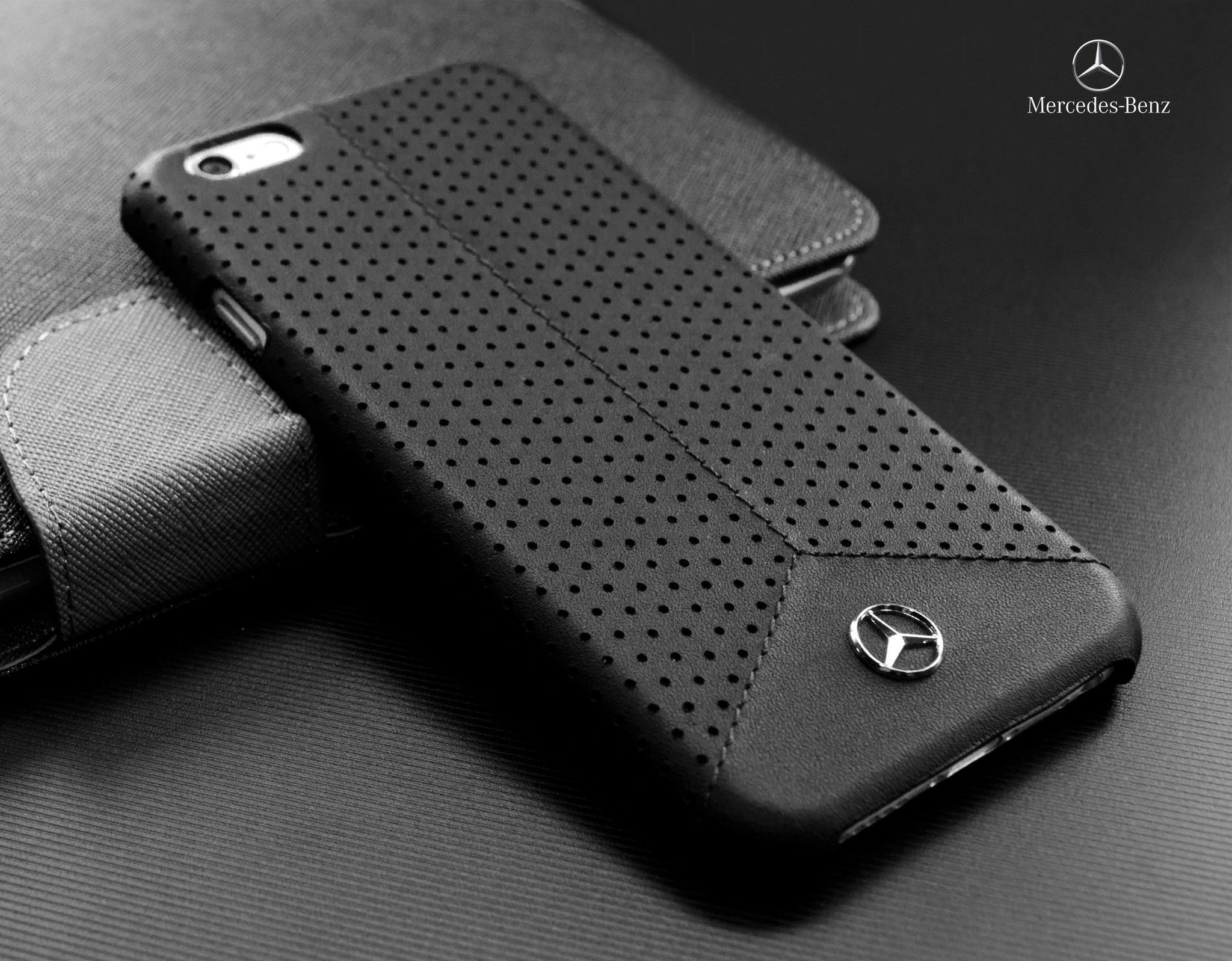 premium selection 4263d 88823 Mercedes Benz ® Apple iPhone 6 Plus / 6S Plus Pure Line Perforated Genuine  Leather Hard Case Back Cover