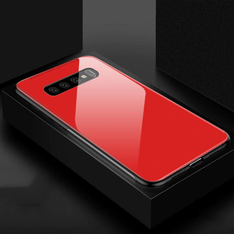 Vaku ® Samsung Galaxy S10 Club Series Ultra-Shine Luxurious Tempered Finish  Silicone Frame Thin Back Cover