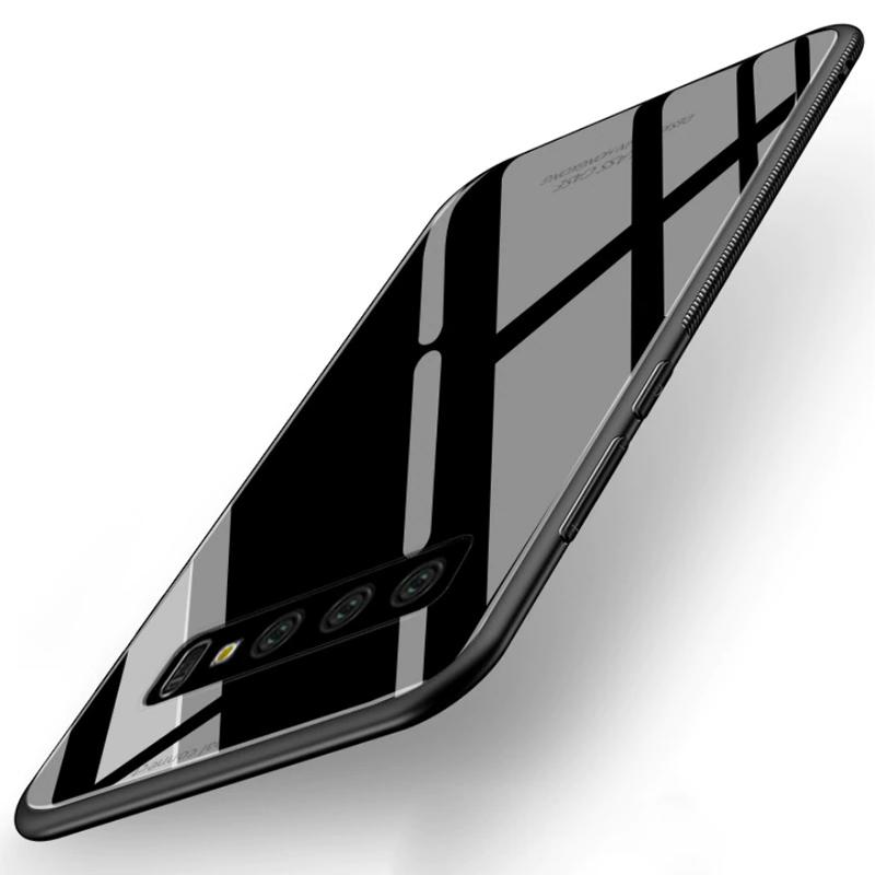 Vaku ® Samsung Galaxy S10 Plus Club Series Ultra-Shine Luxurious Tempered  Finish Silicone Frame Thin Back Cover