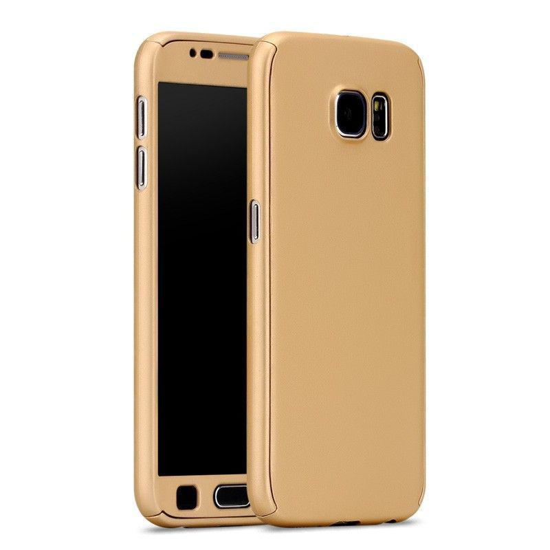 samsung galaxy s6 gold case. i-paky ® samsung galaxy s6 edge 360 full protection metallic finish 2-in-1 ultra-thin slim front case + back cover gold s