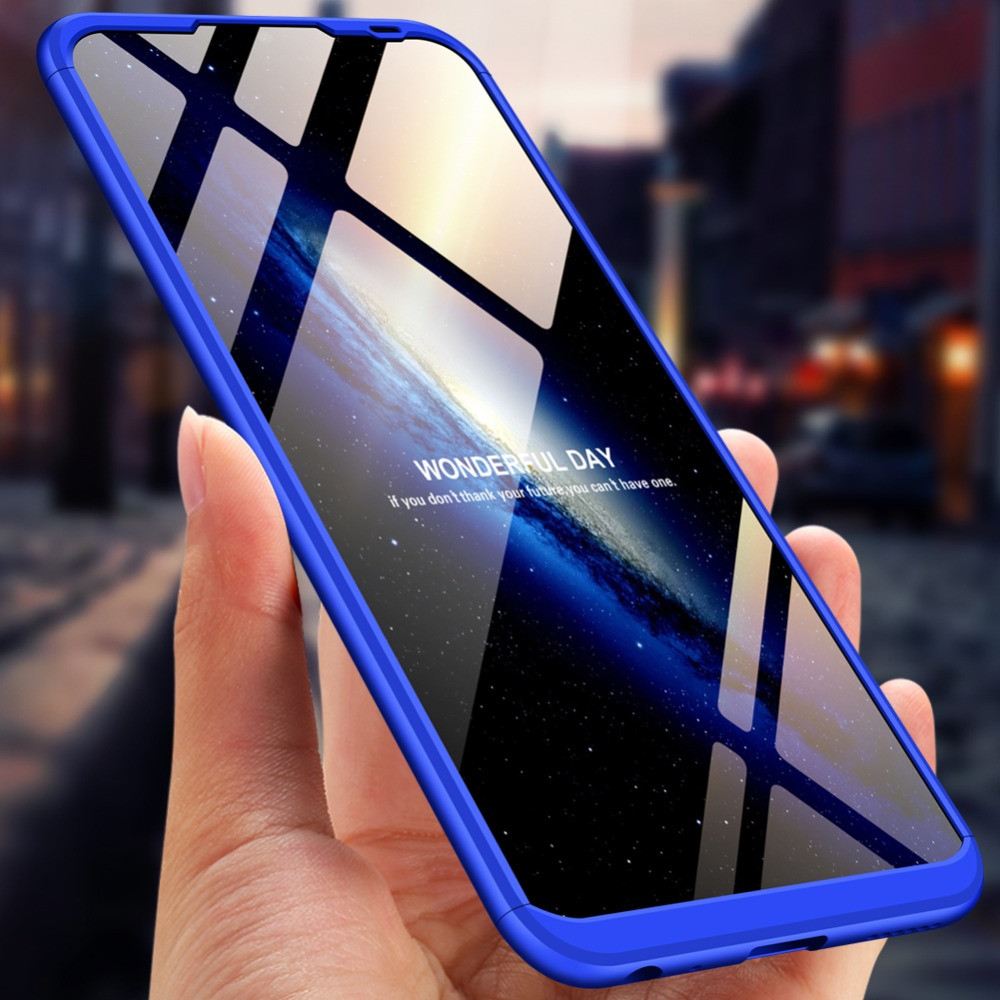 Gkk Vivo Y91 5 In 1 360 Series Pc Case Dual Colour Finish Ultra Thin Slim Front Case Back Cover