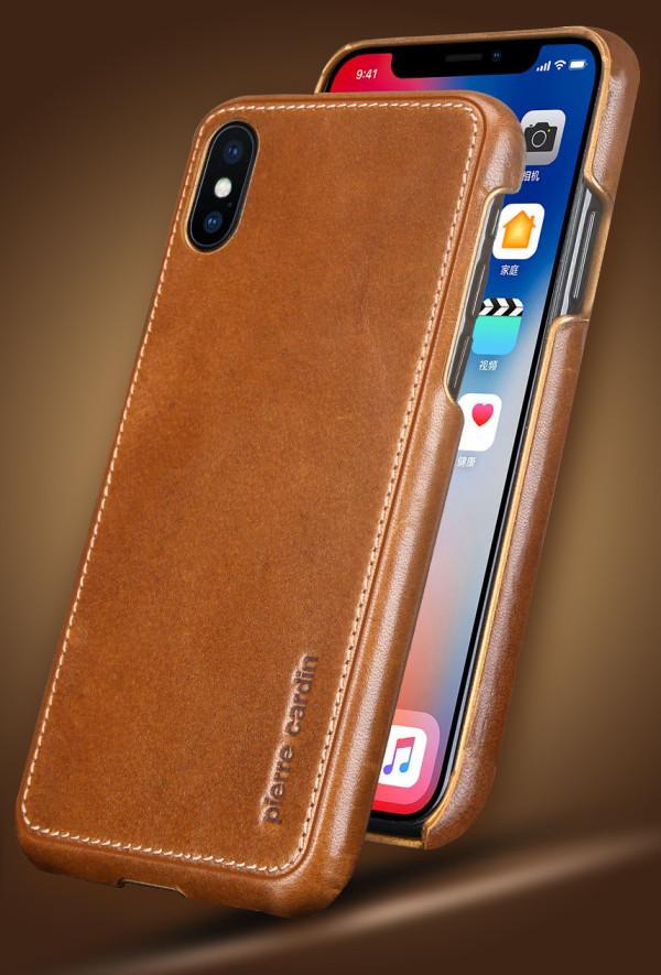 Pierre Cardin ® Apple iPhone X / XS Paris Design Premium Leather Case Back Cover - iPhone X / XS