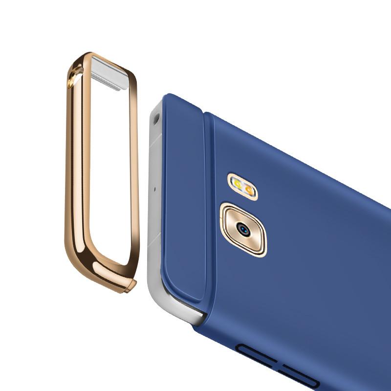 hot sale online 2b641 c2d91 Vaku ® Samsung Galaxy C9 Pro Ling Series Ultra-thin Metal Electroplating  Splicing PC Back Cover