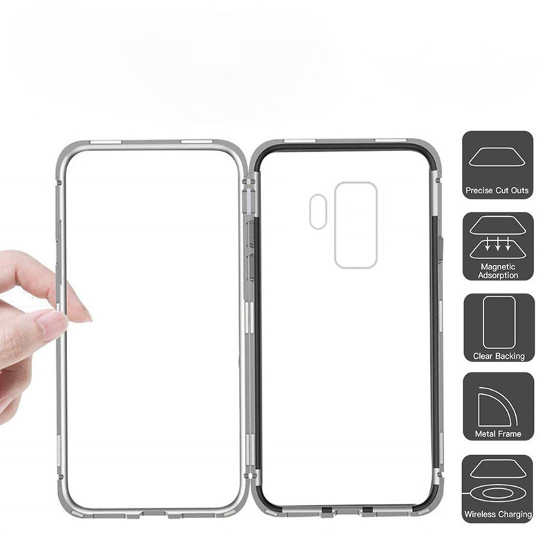 the best attitude 47636 7ff9a Vaku ® Samsung Galaxy S9 Plus Electronic Auto-Fit Magnetic Wireless Edition  Aluminium Ultra-Thin CLUB Series Back Cover