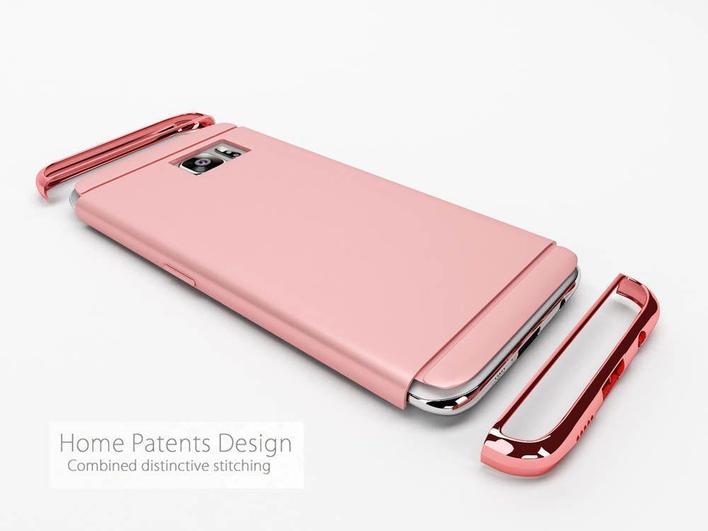 detailed look 4b62c b0c9e Vaku ® Samsung Galaxy J7 Max Ling Series Ultra-thin Metal Electroplating  Splicing PC Back Cover