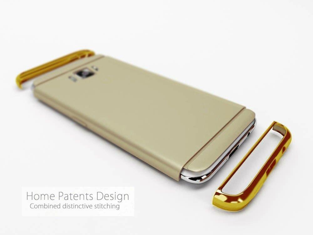 low priced c654f 54a9c Vaku ® Samsung Galaxy J7 (2016) Ling Series Ultra-thin Metal Electroplating  Splicing PC Back Cover