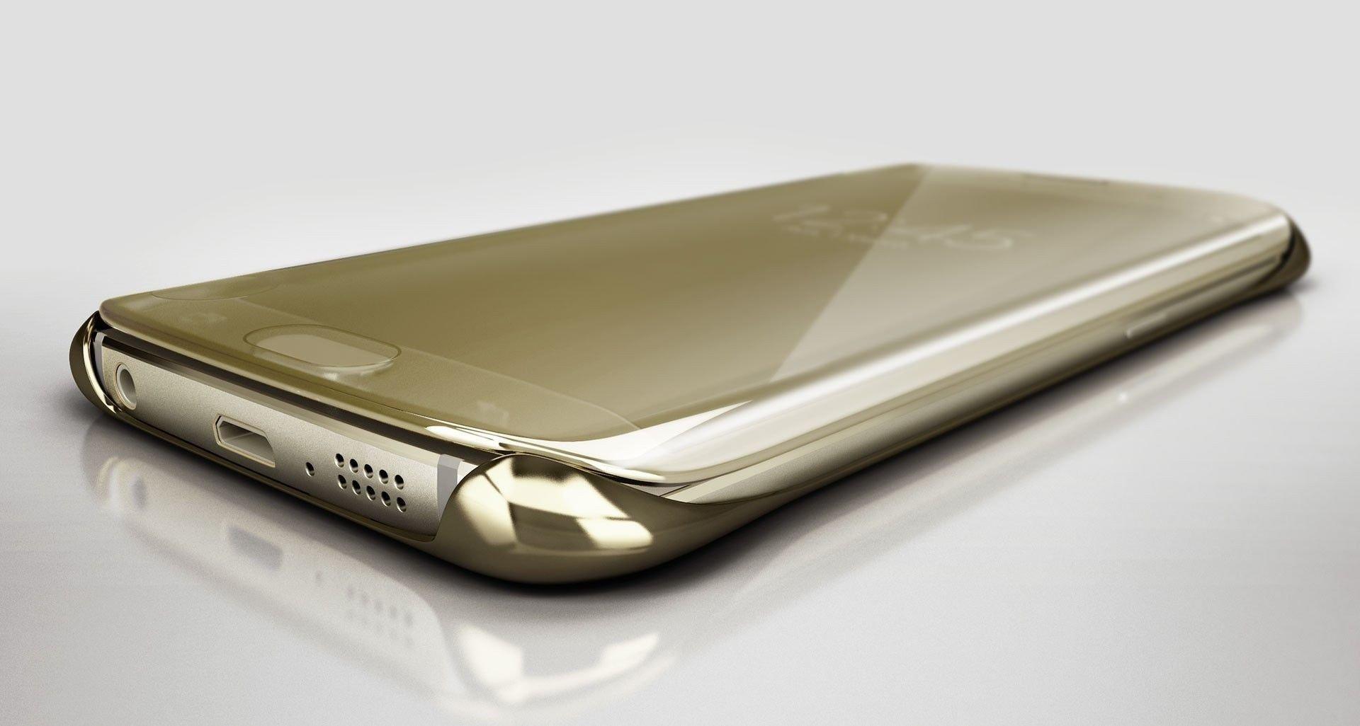 big sale d5295 126dd Vaku ® Samsung Galaxy J7 Max Mate Smart Awakening Mirror Folio Metal  Electroplated PC Flip Cover