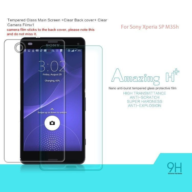 new styles ce507 afc7a Dr. Vaku ® Sony Xperia SP M35h Ultra-thin 0.2mm 2.5D Curved Edge Tempered  Glass Screen Protector Transparent