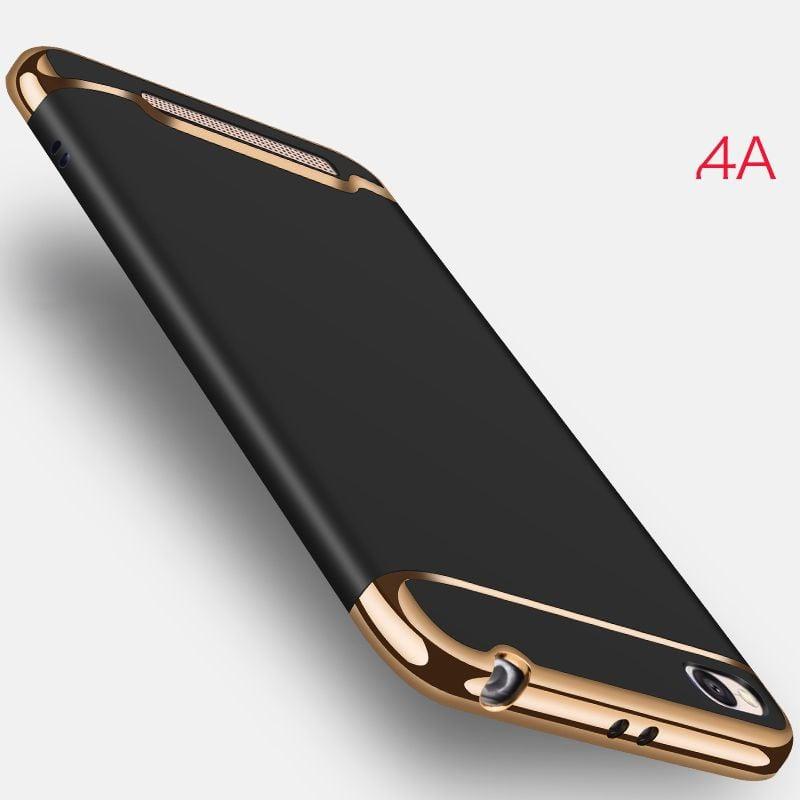 the latest eba67 4fdbd Vaku ® Xiaomi Redmi 4A Ling Series Ultra-thin Metal Electroplating Splicing  PC Back Cover