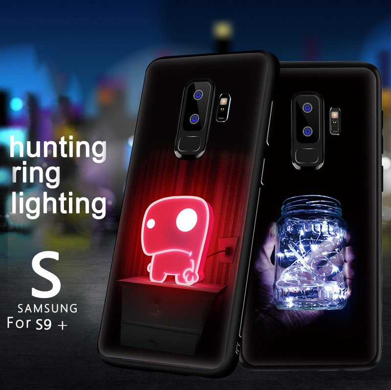 on sale c052b a897c VAKU ® Samsung Galaxy S9 Plus NFC Wireless LED Light Illuminated 3D  Designer Case Back Cover