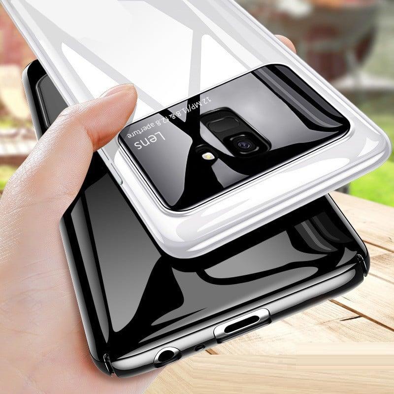 new arrival 64d2f 4ddf7 Vaku ® Samsung Galaxy J6 2018 Polarized Glass Glossy Edition PC 4 Frames +  Ultra-Thin Case Back Cover
