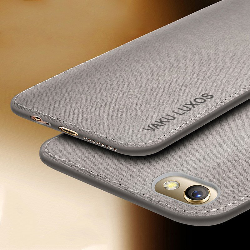 Vaku ® Oppo A83 Luxico Series Hand-Stitched Cotton Textile Ultra Soft-Feel  Shock-proof Water-proof Back Cover