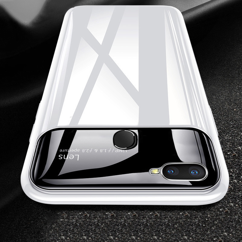 on sale 6db5e ea2e3 Vaku ® Oppo F9 / F9 PRO Polarized Glass Glossy Edition PC 4 Frames +  Ultra-Thin Case Back Cover