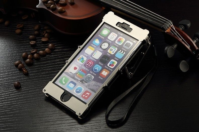 Excellent Armor King U00ae Apple IPhone 6 Plus / 6S Plus Iron Man Dual Window Stainless Steel Shell Riveted ...