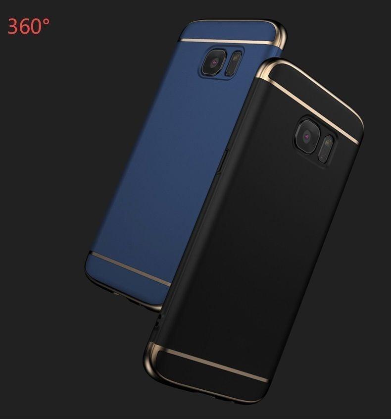 new style 1e8ca c6f19 Vaku ® Samsung Galaxy J7 Prime Ling Series Ultra-thin Metal Electroplating  Splicing PC Back Cover