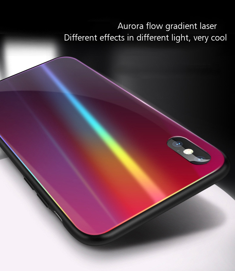 official photos 32c0c ca484 Vaku ® Apple iPhone X / XS ElectroWAVE Automatic Shine Changing  Heat-Dissipating Glass Shock-Proof Back Cover
